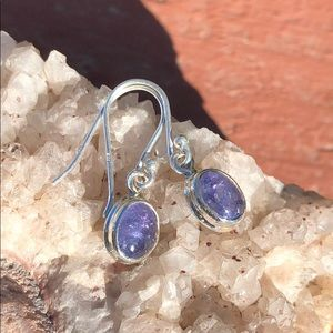 BOUTIQUE NATURAL TANZANITE 925 SILVER EARRINGS